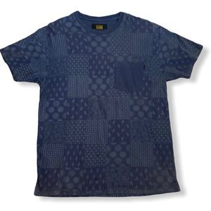 10 Deep gray/blue paisley print T-shirt